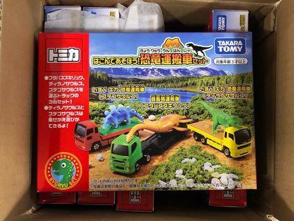 全新日版 Tomica 恐龍運搬車 Boxset