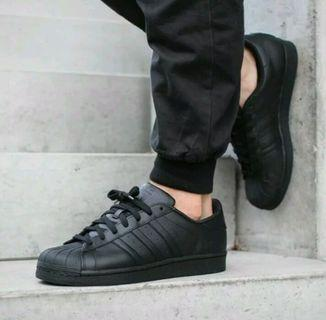 [READY STOCK] ADIDAS SUPERSTAR SHOES (FULL BLACK)