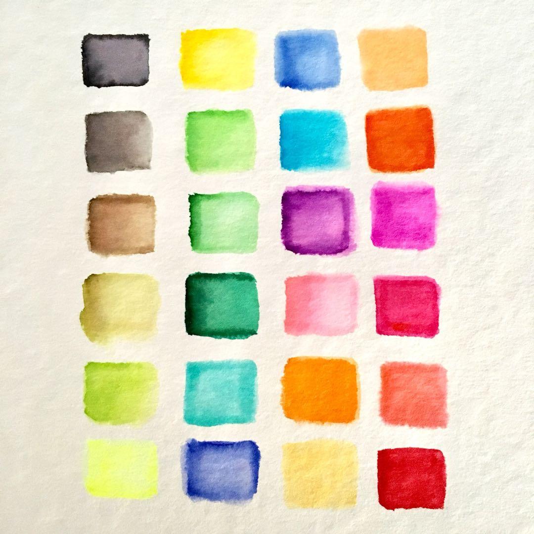24+1 Real Brush Colour Pens Set