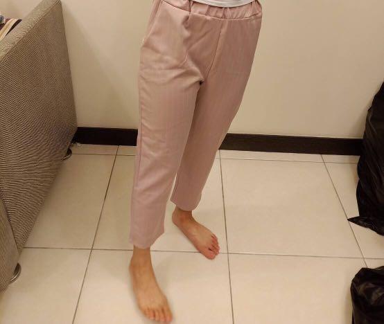 氣質粉寬褲