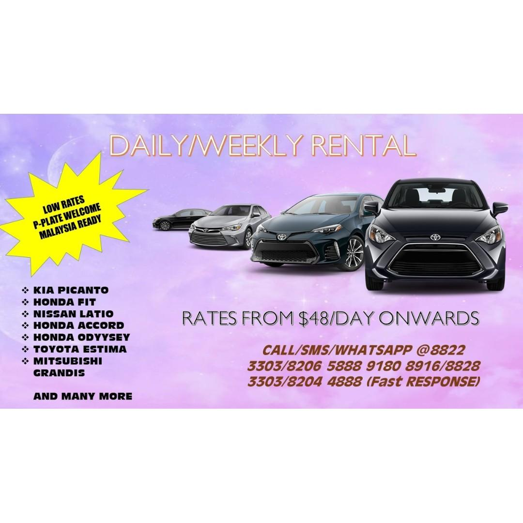 🚘🚧 DAILY/WEEKLY/MONTHLY CAR RENTAL FROM $350 ONWARD 🚧🚘