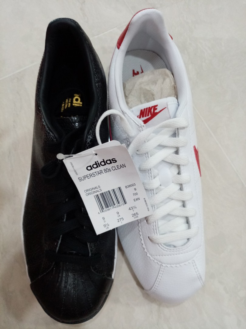 revendeur 3130b ceb93 Adidas Superstar and Nike Cortez