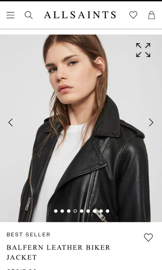 ALLSAINTS REDUCED!!! BNWT SIZE 2 BALFERN BIKER LEATHER JACKET