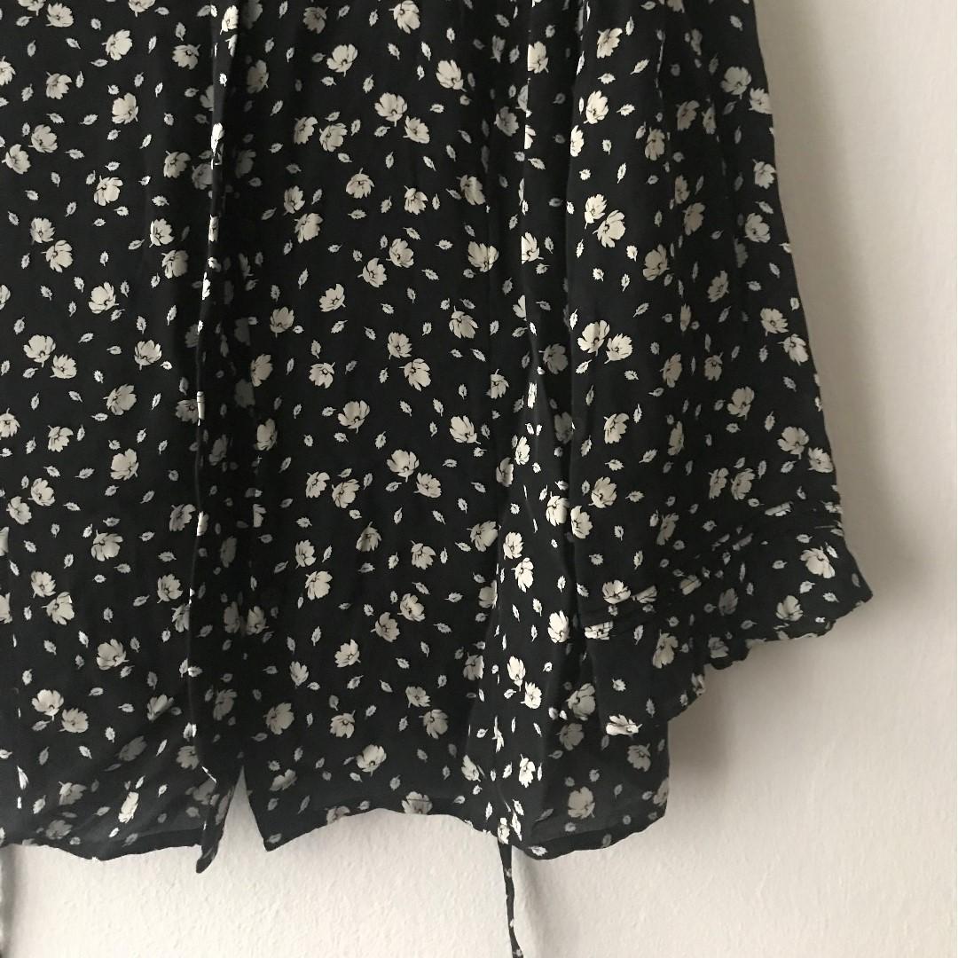 Buttoned Black Blouse