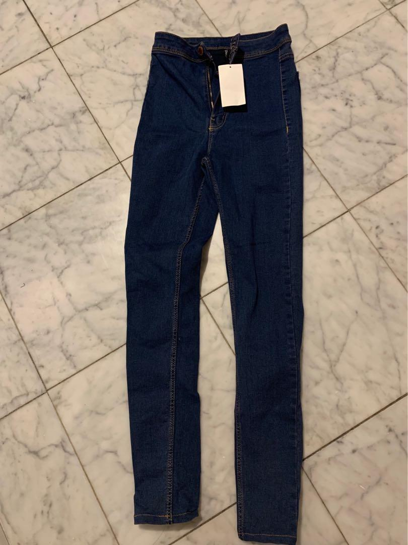 Brand new HNM navy skinny high waisted denim jeans EUR size 32 US 2