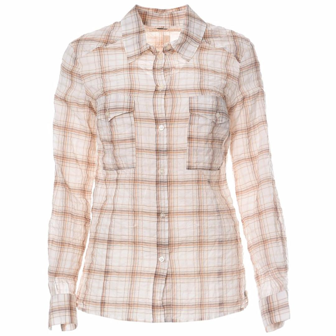 """Brand New With Tags - Ikks Check button up shirt/blouse """"Juane"""" Size 38"""