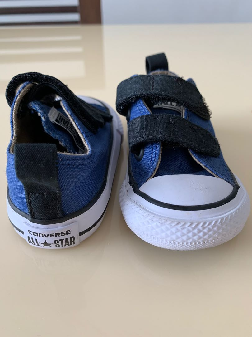 Converse All Star baby shoes, blue