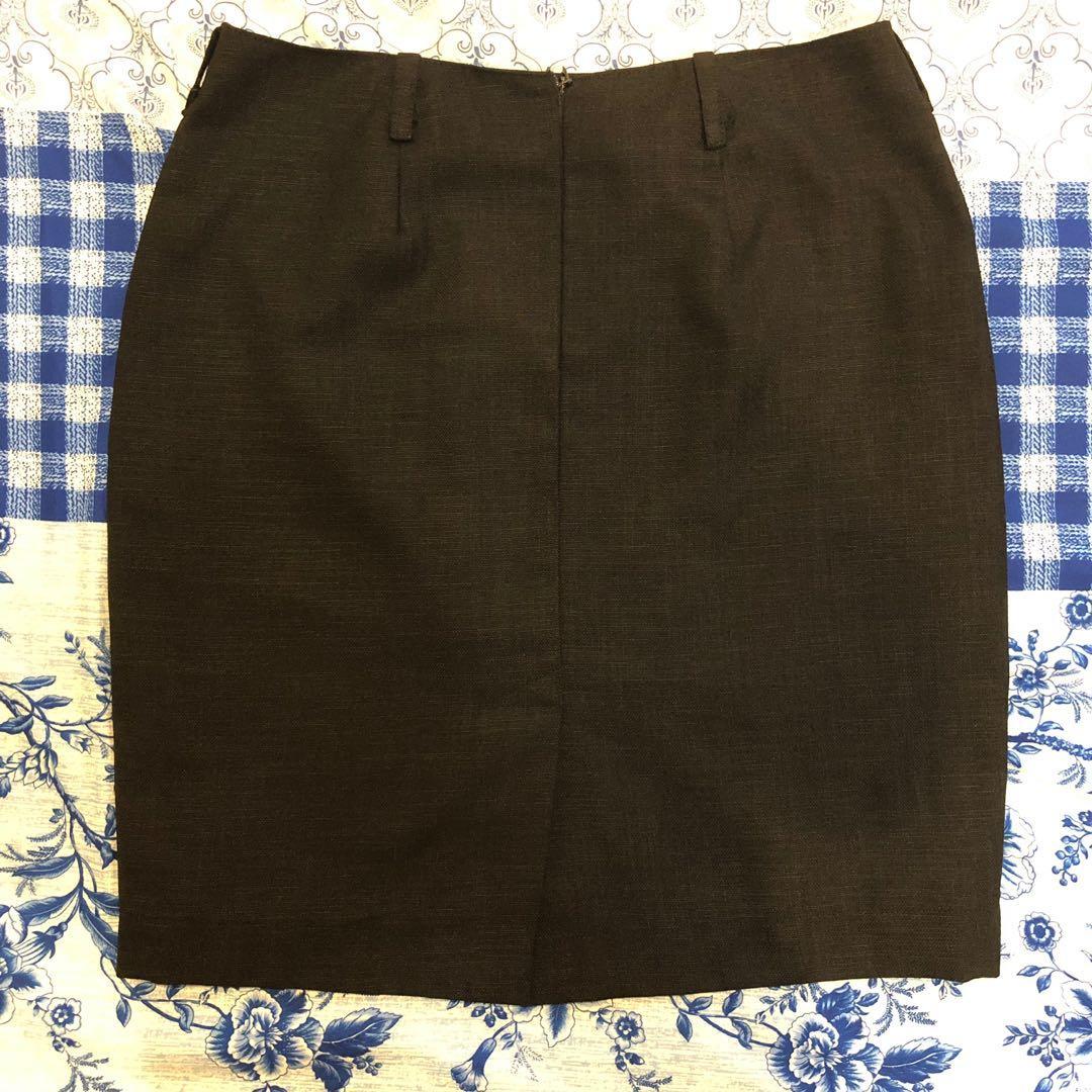 Fully Lined Black Pencil Cut Skirt