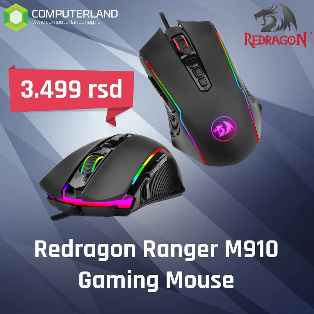 (Gaming Mouse) Redragon M910 Ranger Chroma Gaming Mouse with 16 8 Million  RGB Color Backlit, Comfortable Grip, 9 Programmable Buttons, up to 12400  DPI