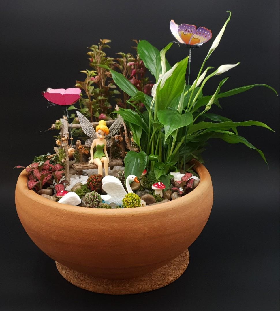 🧚‍♂️🧚‍♀️🌻Handcrafted Tabletop Miniature Mystical Fairy Garden E🧚‍♂️🧚‍♀️