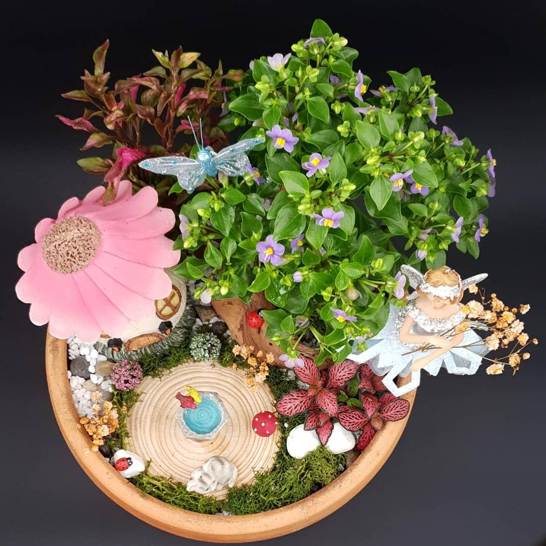 🧚♂️🧚♀️🌻Handcrafted Tabletop Miniature Mystical Fairy Garden G🧚♂️🧚♀️