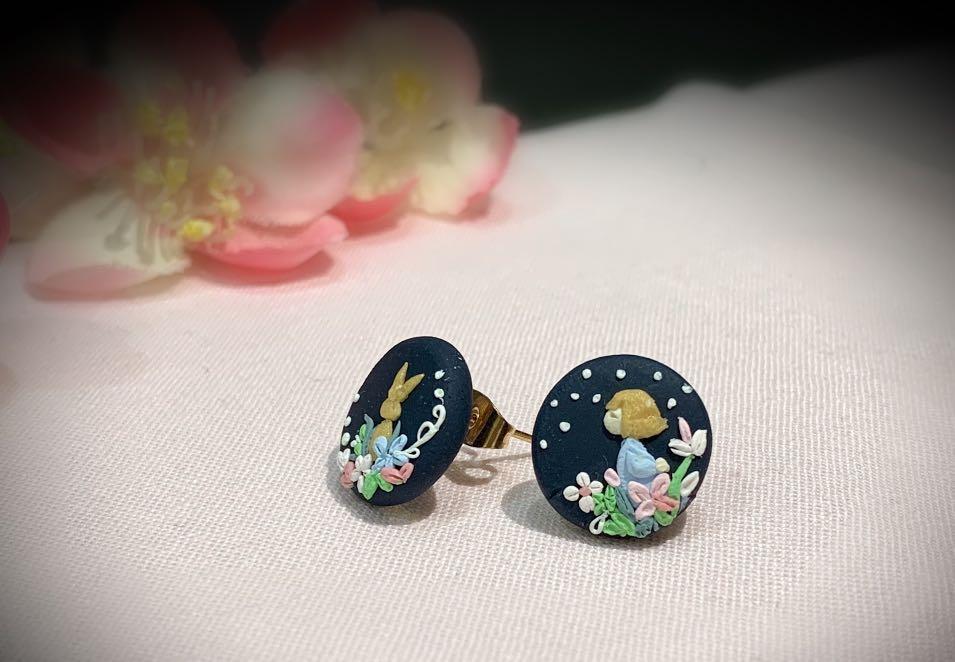 Handmade Polymer Clay Earrings - de LittleGirl series