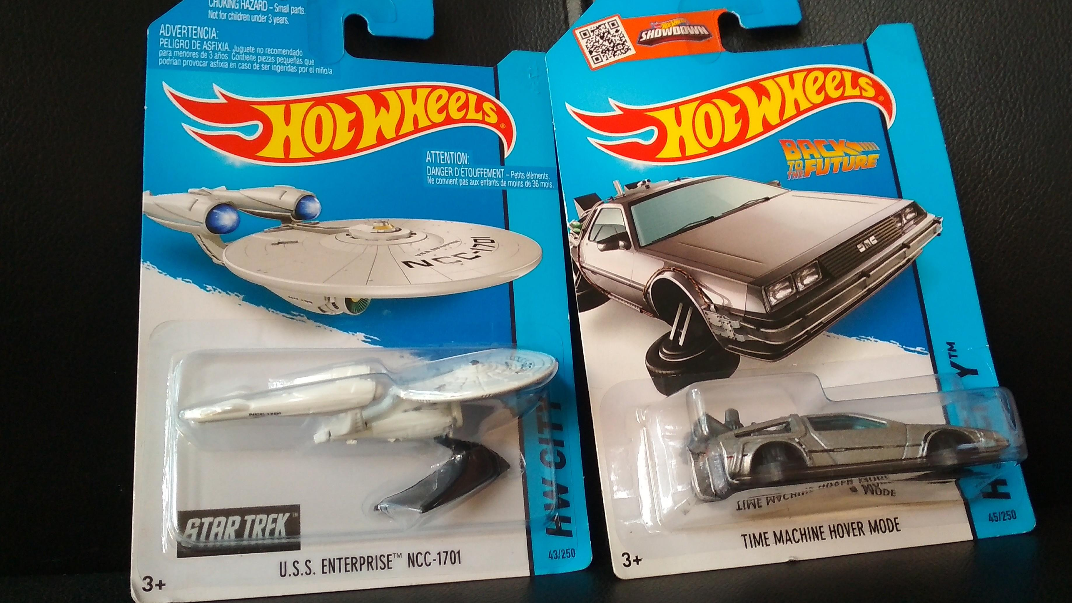 Hot Wheels startrek🖖 back to the future