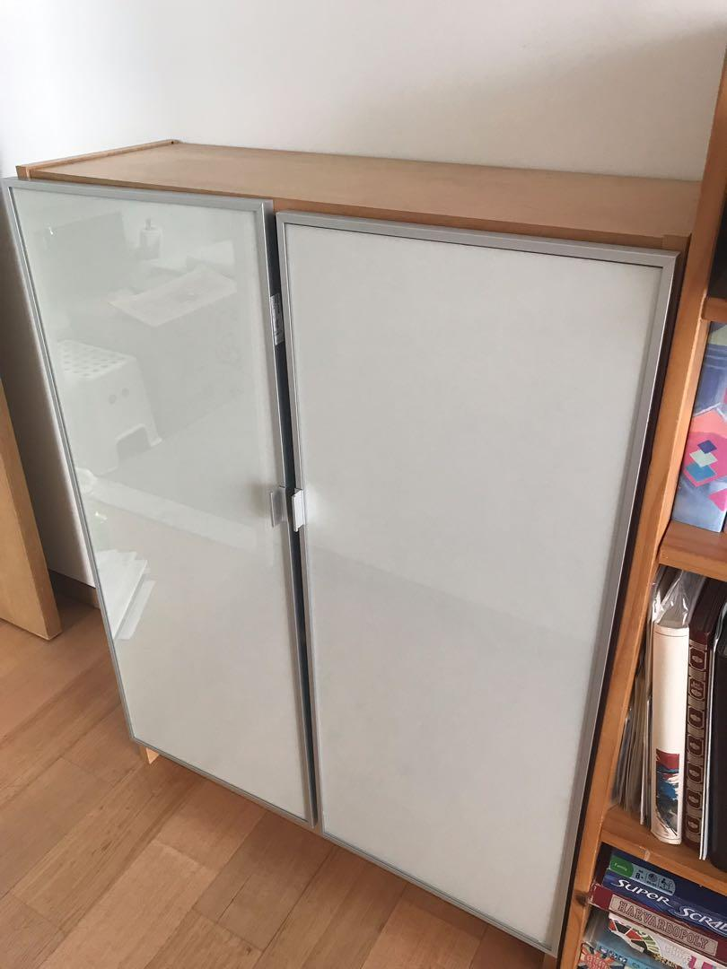 Ikea Billy Bookcase With Glass Door Double Furniture