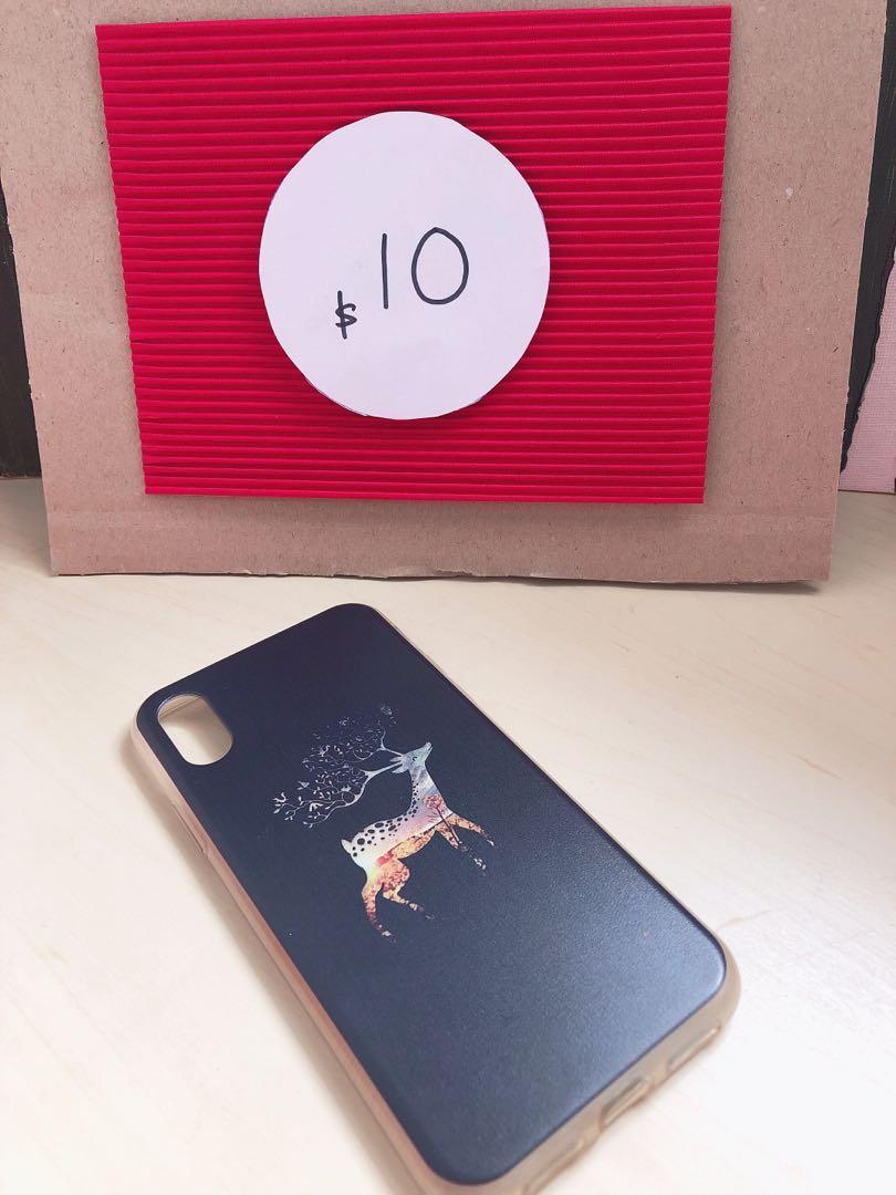 iPhone X Phone Case - Black 🦌