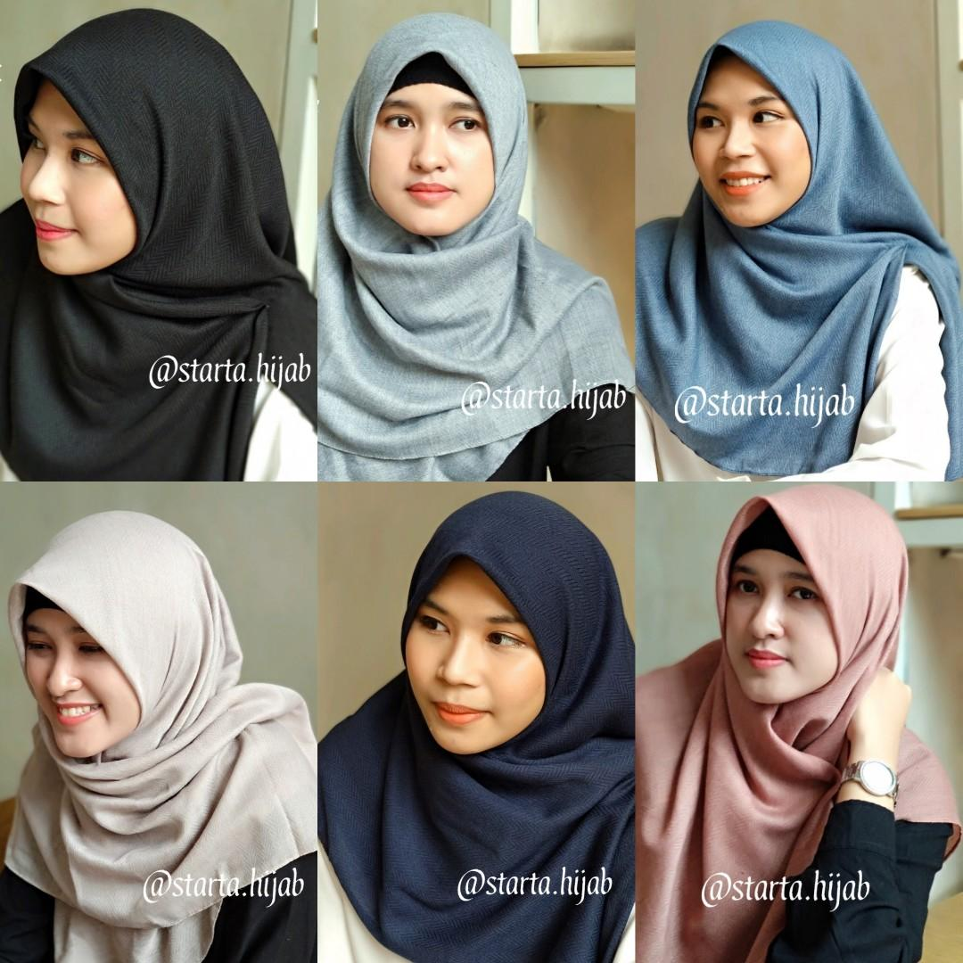 Jilbab segi empat voal zafron