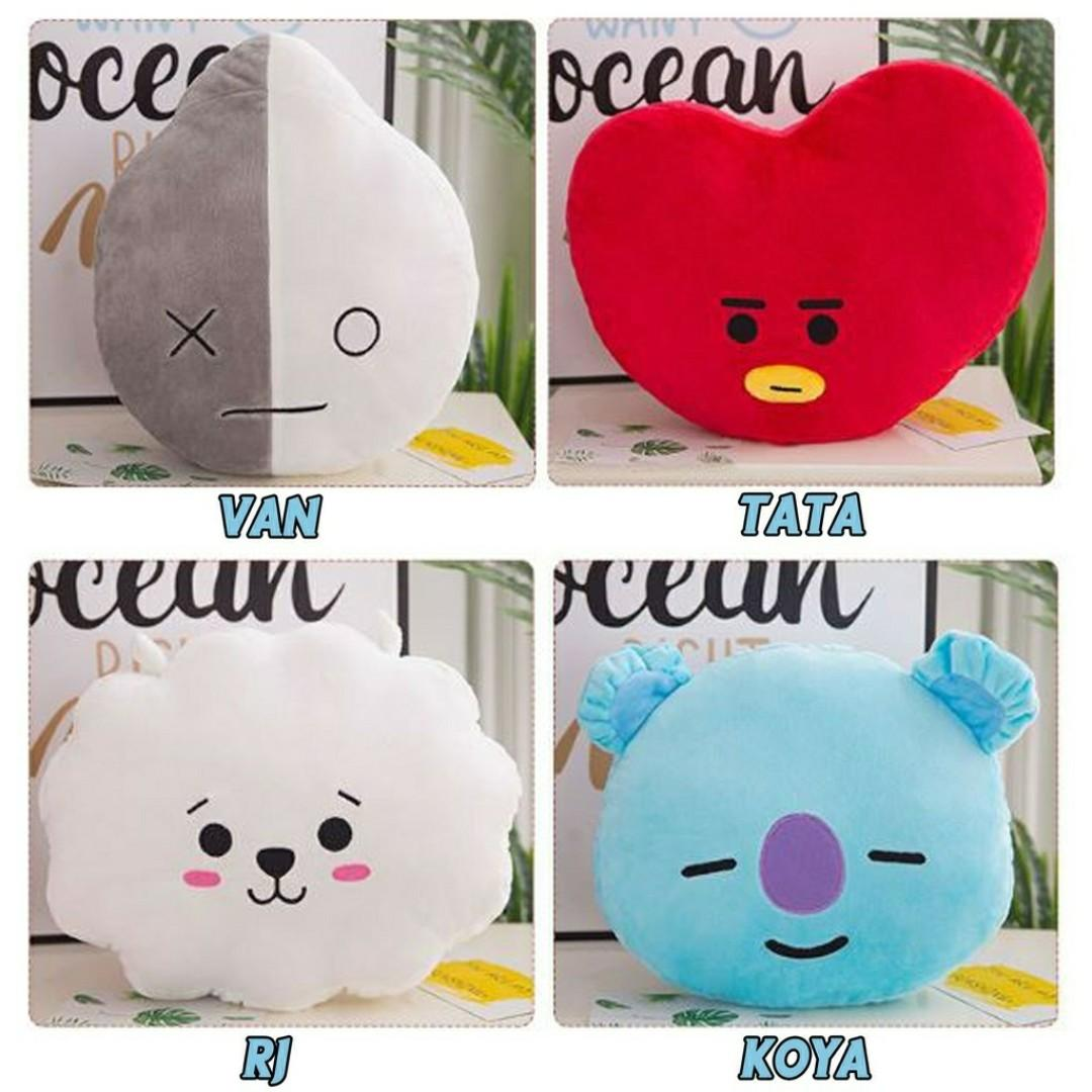 KPOP BTS BT21 TATA SHOOKY RJ Plush Toy SUGA COOKY Pillow Doll Sofa Cushion