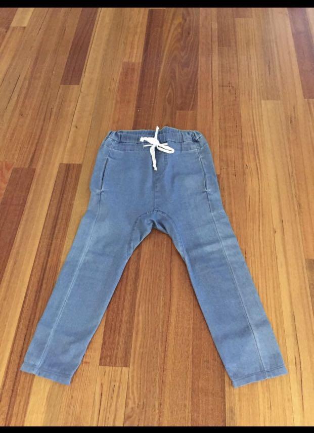 L'America drop crotch jeans