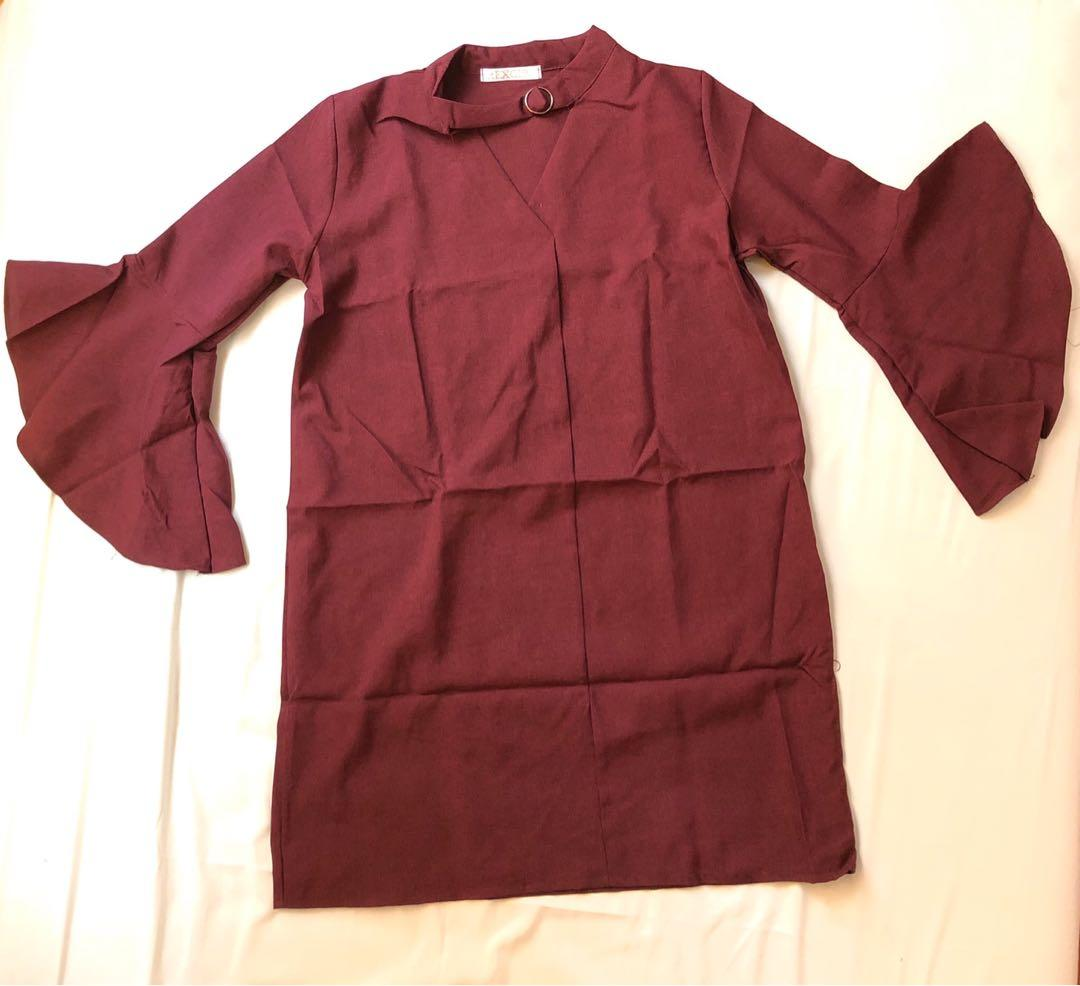 Maroon dress import