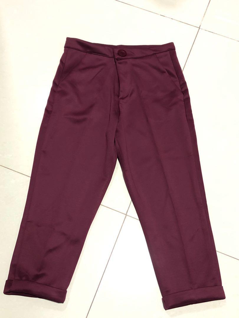Burgundy Scuba Pants
