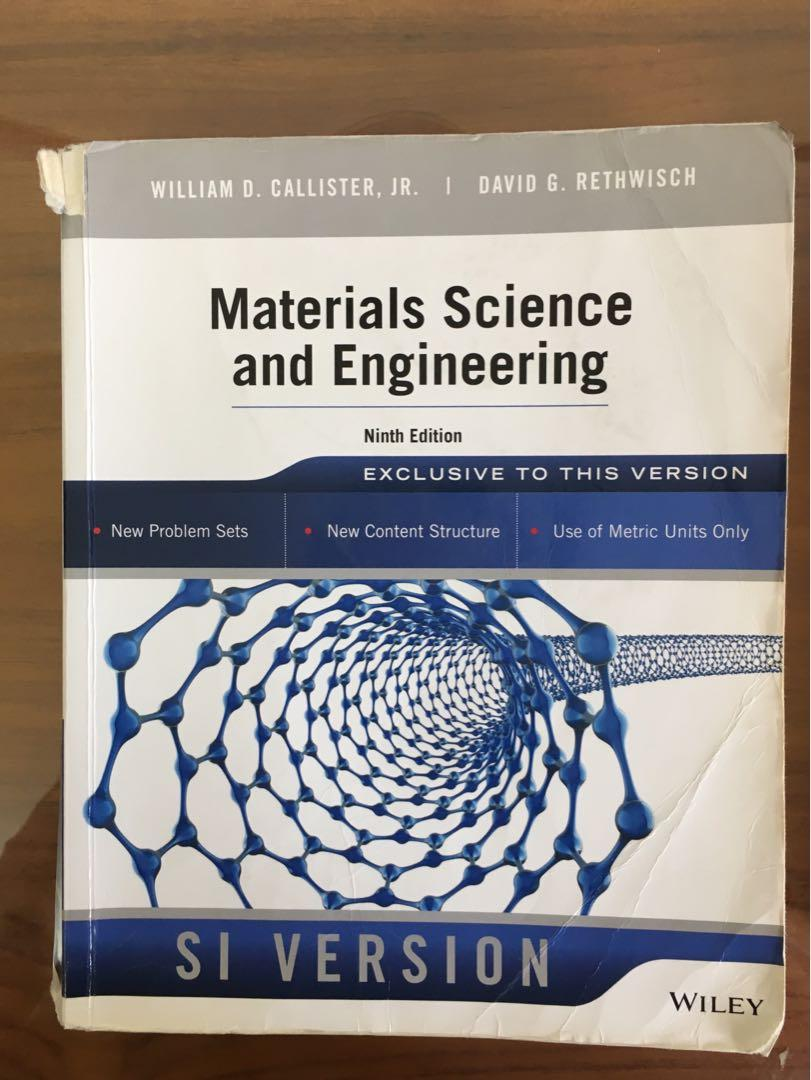 Materials science and engineering ninth edition