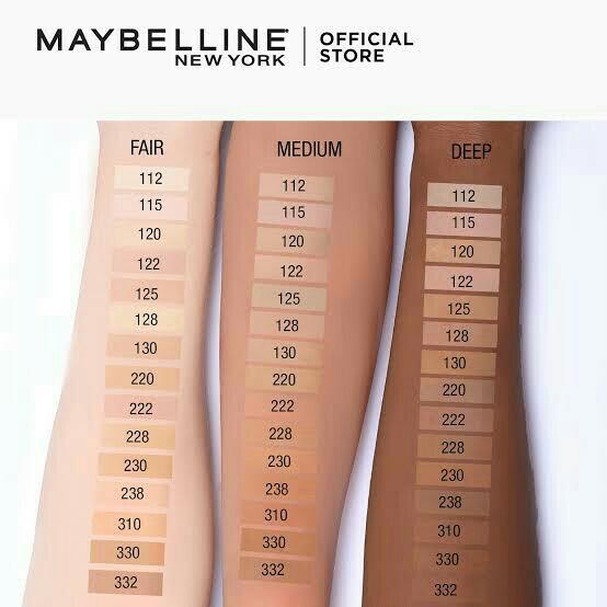 Maybelline fit me fondation