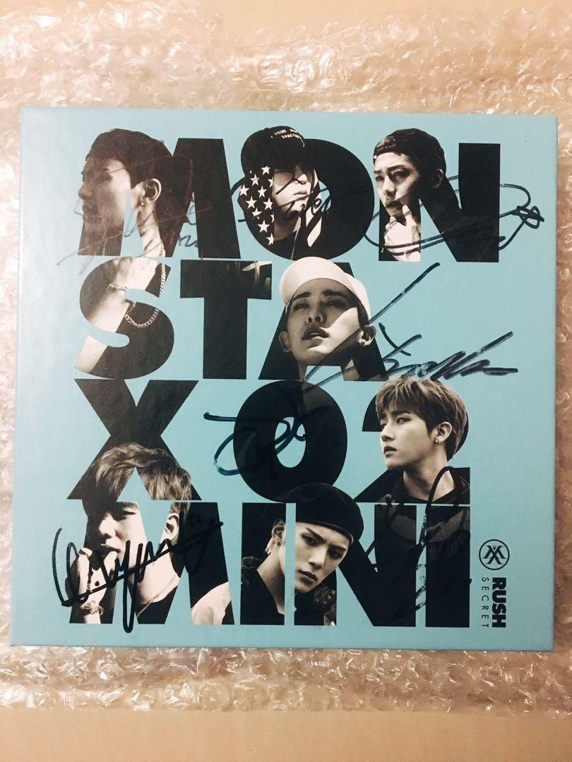 MONSTA X ALBUM with ALL MEMBER SIGN. [PRICE INCLUDE POSTAGE FEE]
