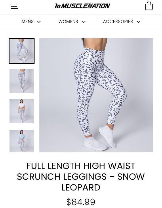 Muscle Nation full length scrunch leggings leopard
