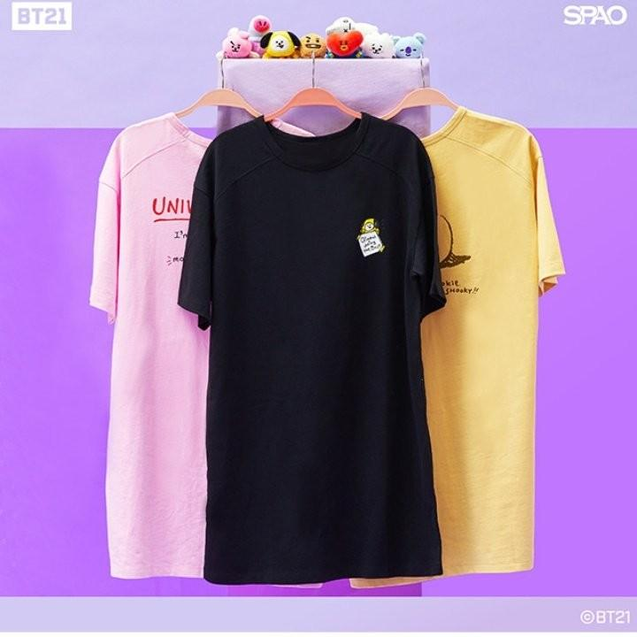 [MY GO] BT21 x SPAO T-Shirt (Polo, Graphic T, or Long T)