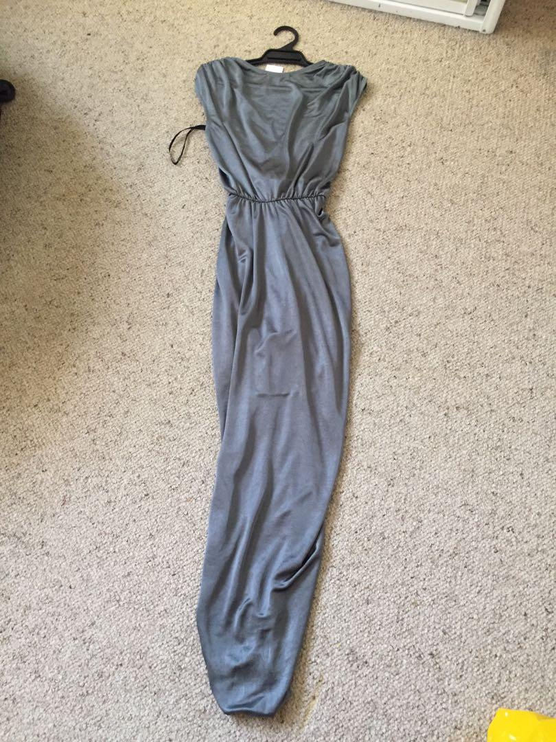 NEW sheike hurricane maxi formal dress in sage green