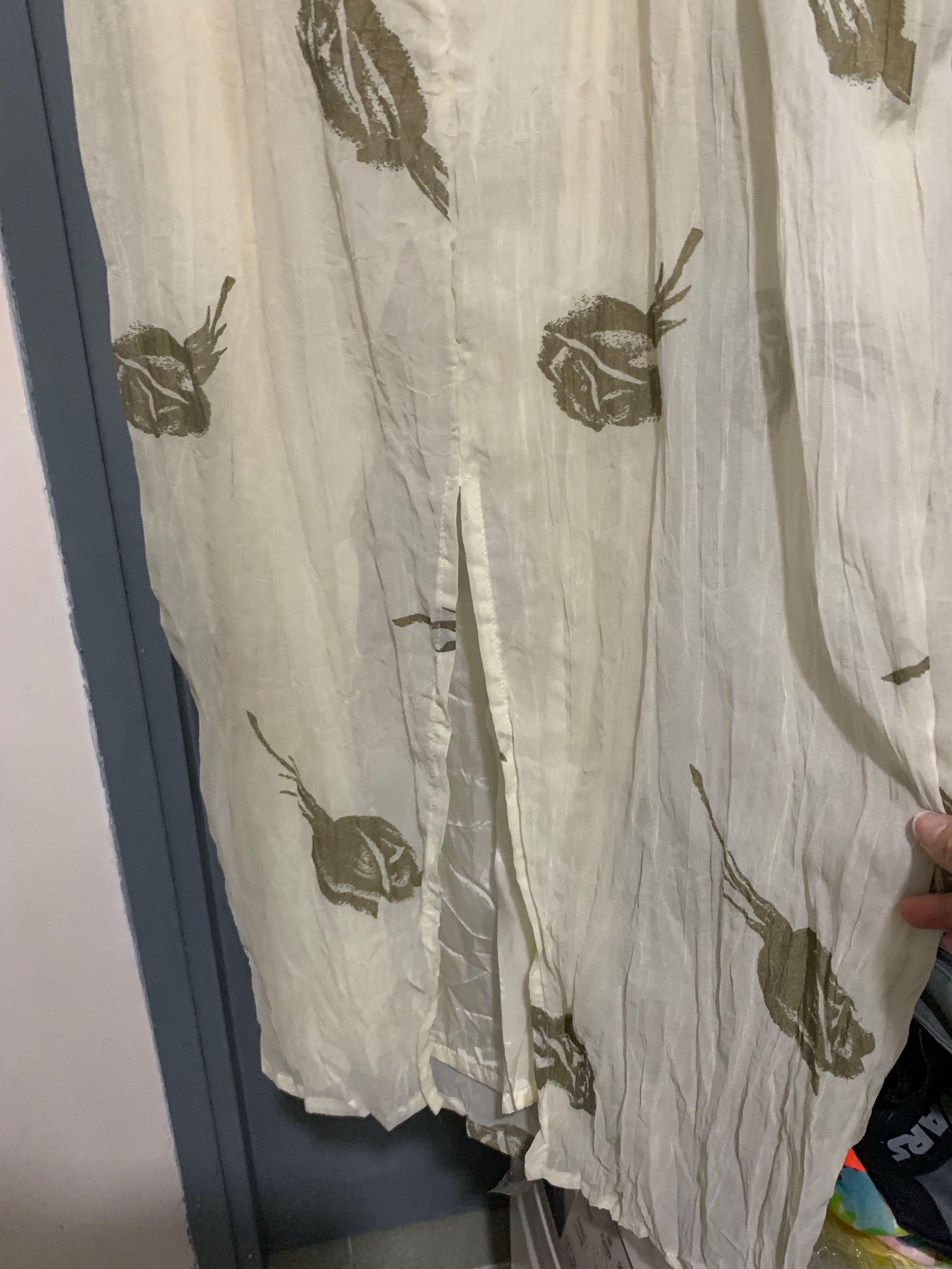 飄逸靚靚,象牙白色雪紡one piece 裙 ,意大利製造make in Italy , Ivory white chiffon one piece skirt