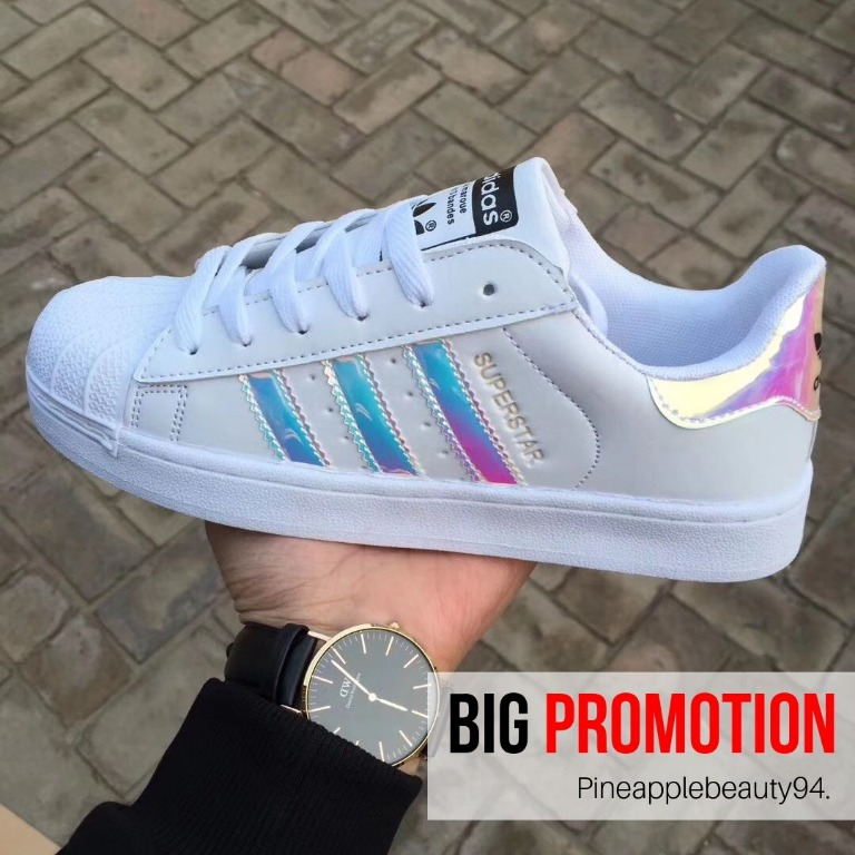 adidas superstar shoes holographic