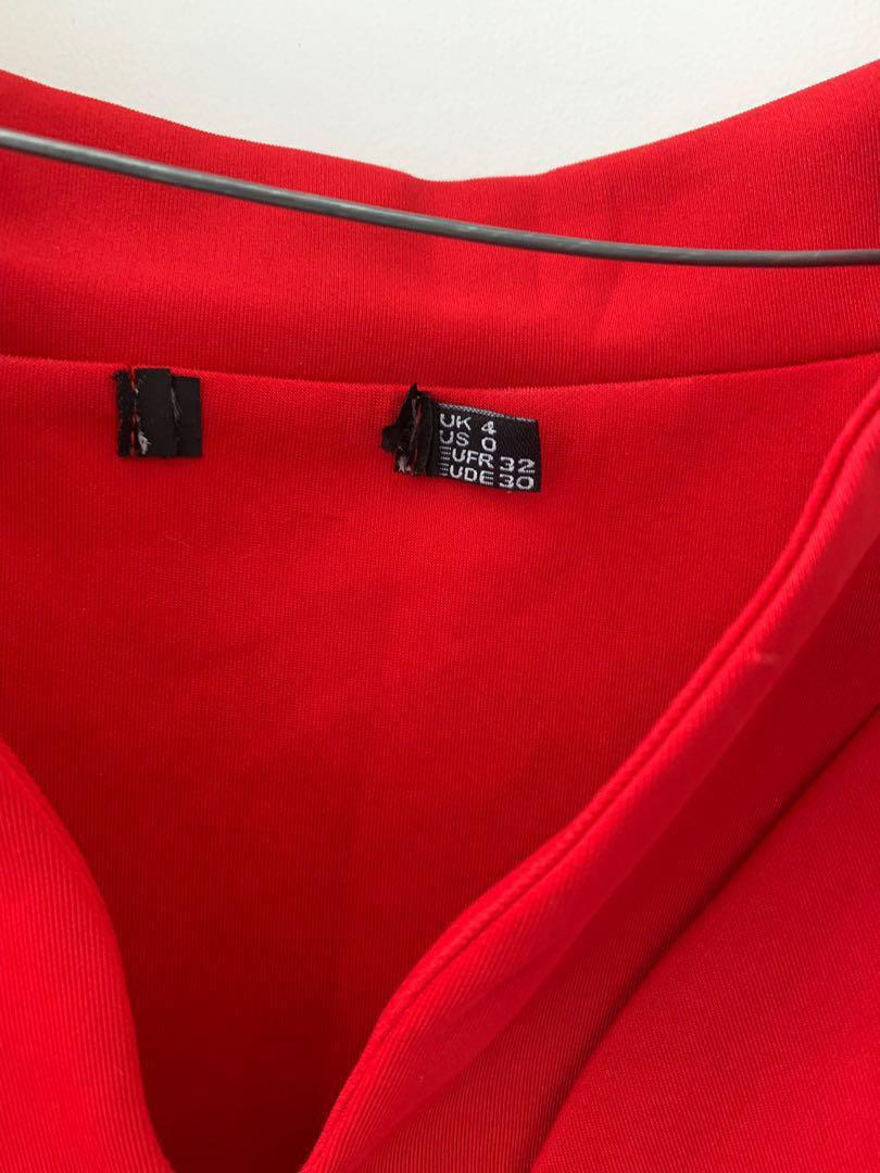 Red off the shoulder formal dress size XS or AU size 4-6