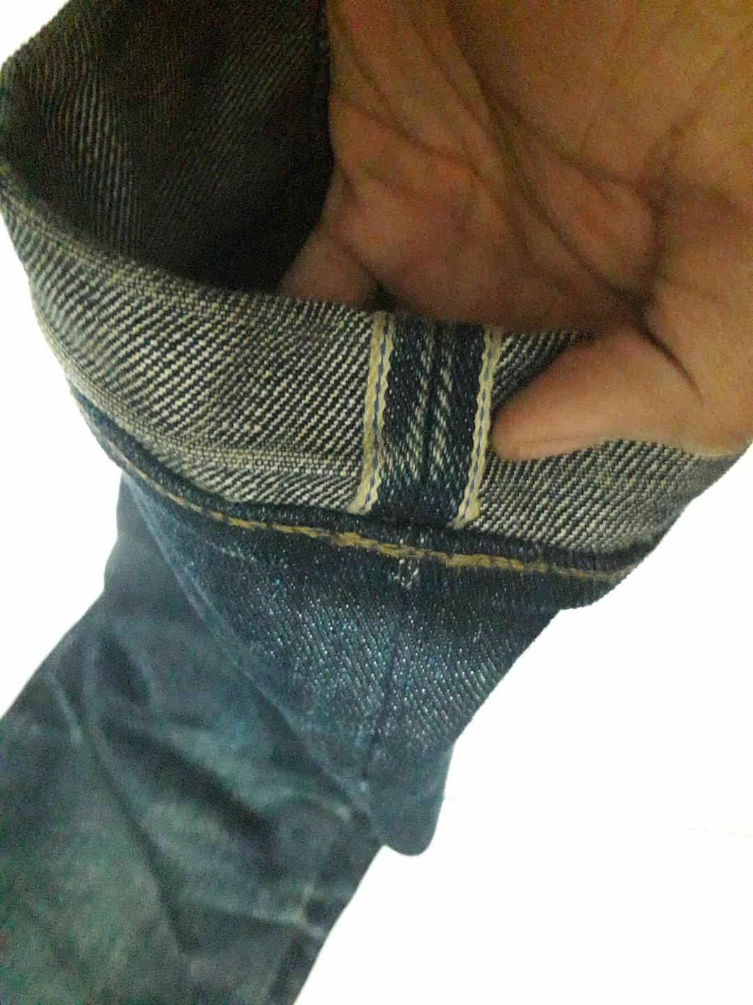 Sage 21 oz blue line selvedge not old blue nudie edwin
