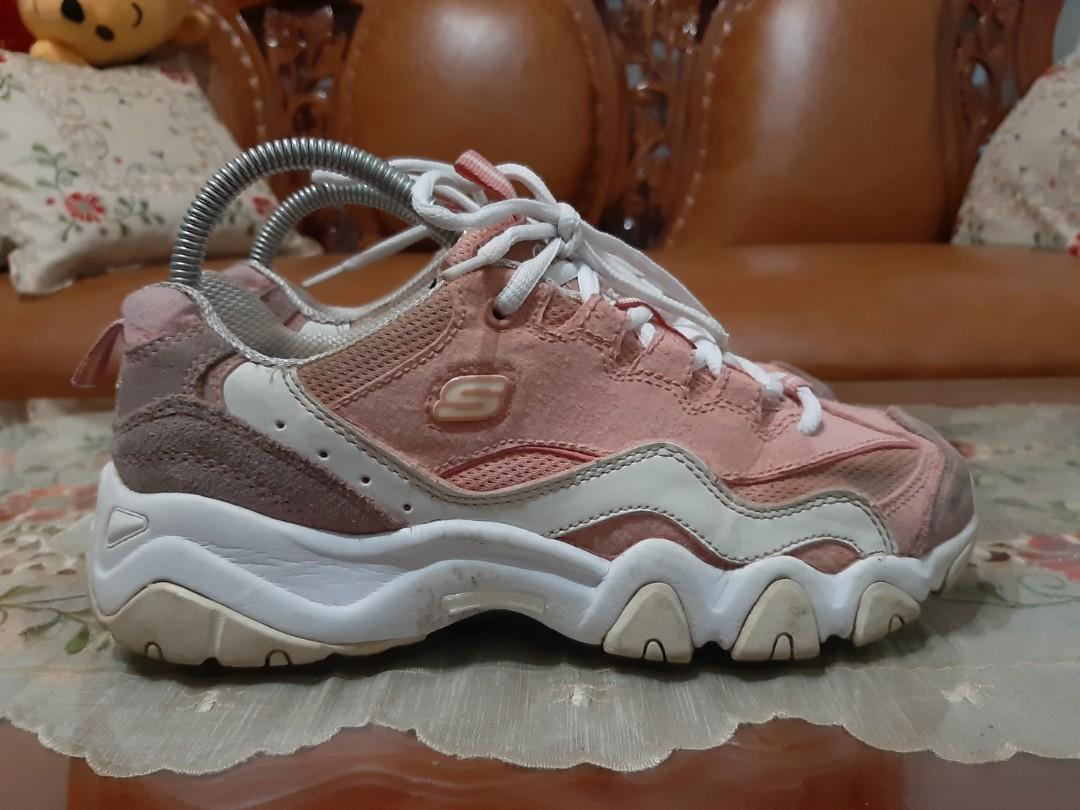 Skechers dlites 2 pink size 39 fit 40