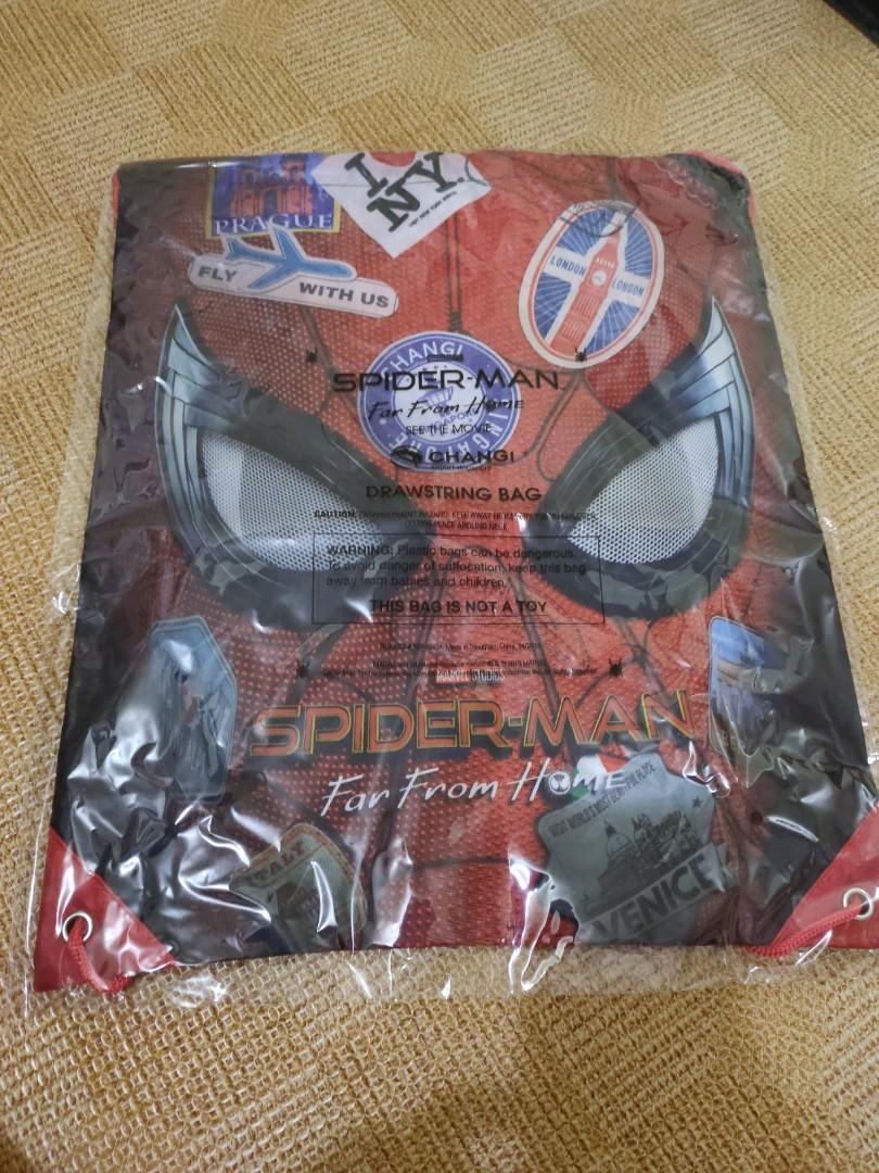 4488a2ba1a28 Spiderman x Changi drawstring backpack