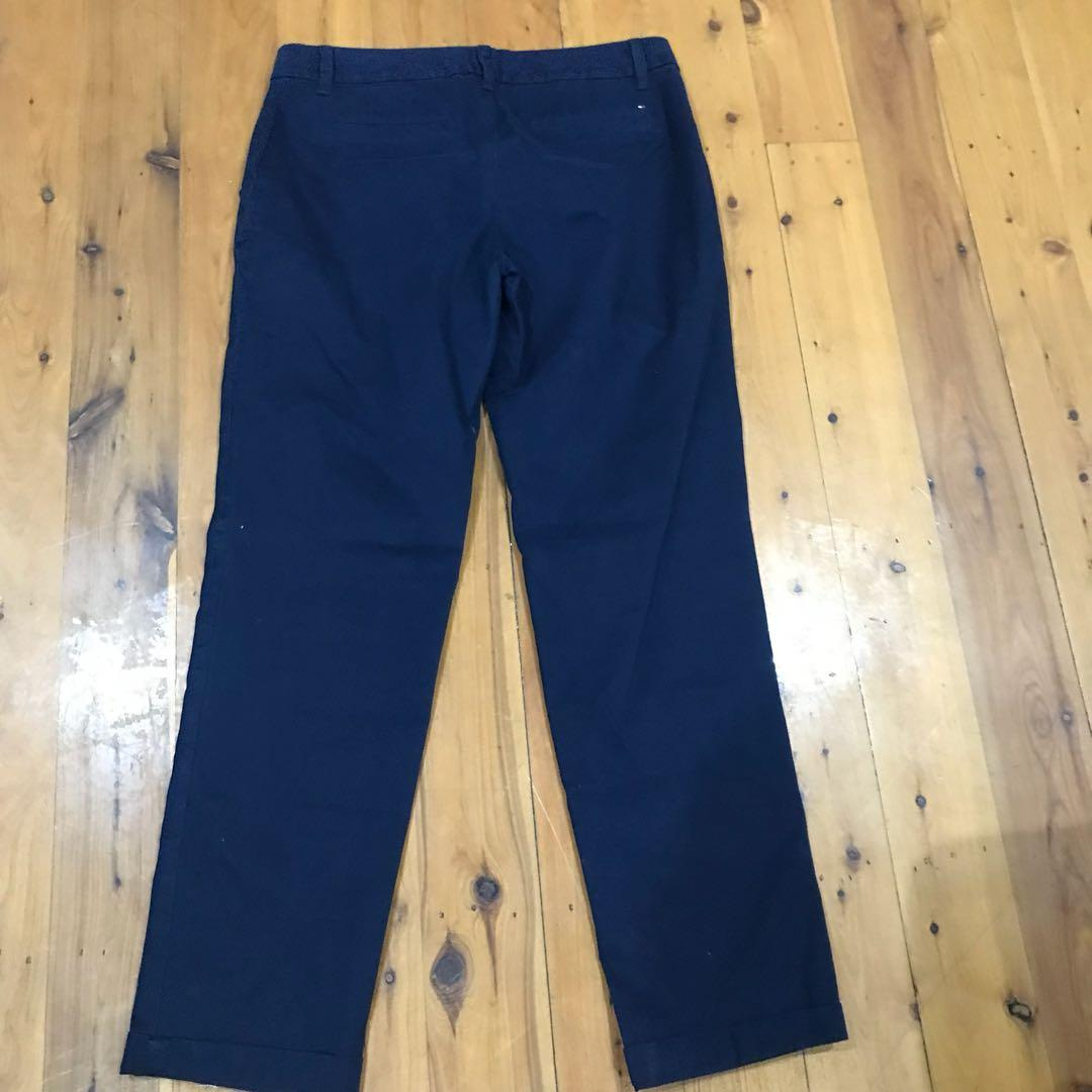 Women's Tommy Hilfiger stretch straight pants navy