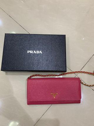 Authentic Prada Wallet on Chain (WOC)