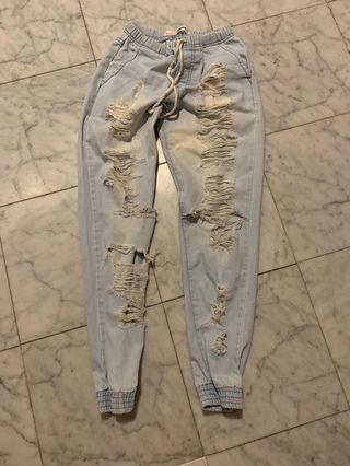 Pale blue Supre ripped jeans XS-S