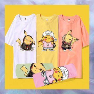 Pikachu Cartoon Character T-Shirt Tee Unisex Plus Size