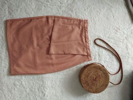 Rok Wanita Pink Peach