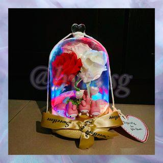 My Melody Customised Built-In LED Rainbow Lights Flower Dome Gift