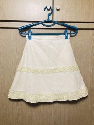 蕾絲絨布裙