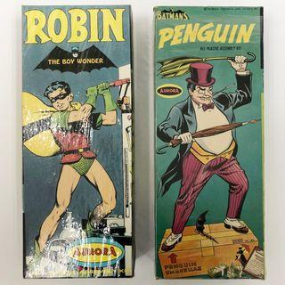 Robin, Penguin All-Plastic Assembly Scale Model Kit - Aurora 1966 美國製 羅賓 企鵝人 絕版
