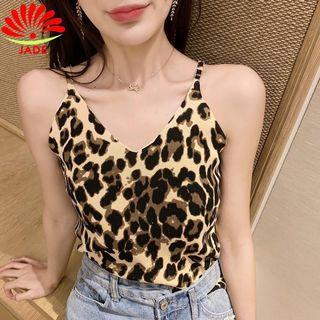 Leopard Knitted camisole