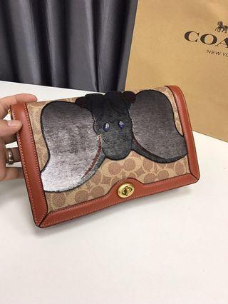CoachPRE-ORDER)  Disney x Coach Signature Riley with Embellished Dumbo