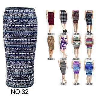 Women's High Waist Pencil Skirt