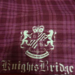 酒紅 knights Bridge 毛毯