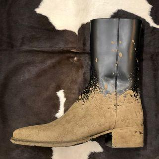 """DSquared2 """"Muddy"""" cowboy leather boot"""