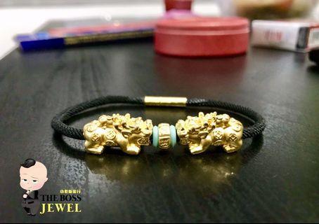 Customised 999 Gold In Rope Bracelet